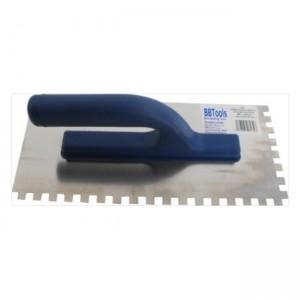 Hladítko nerez. ABS rúčka – zubové 10×10 mm